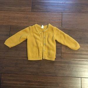 H&M cardigan mustard yellow 6/9